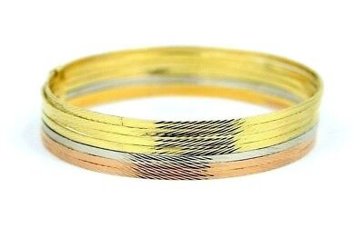 56fbb488a9605 14K YELLOW GOLD 7 Days Plain Bangles Semanario from Size L, 8