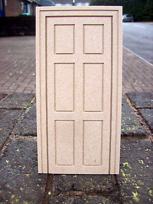 12th SCALE DOLLS HOUSE FALSE 6 PANEL DOOR