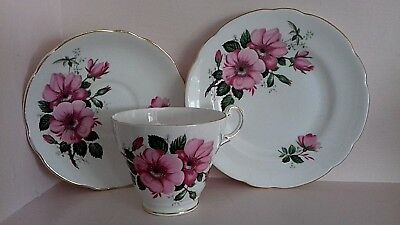Vintage China Trio Shabby Chic Pink Afternoon Tea Party Dresser Display Cabinet