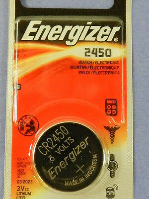Energizer  CR2450 Lithium 3V  Watch Batteries Cell, 1 Pc