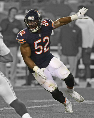 Chicago Bears KHALIL MACK Glossy 8x10 Photo Spotlight Football Print Poster 3ebce4087