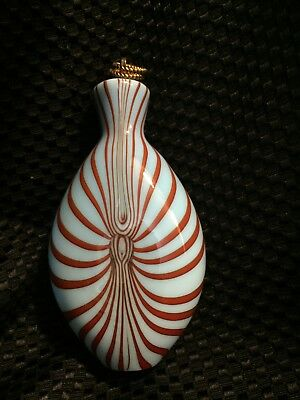 Vintage Boxed Christinenhutte Art Glass Snuff Flask, New In Box