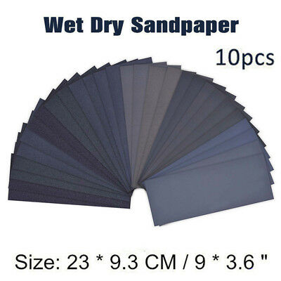 Sanding Paper Abrasive Water-resistant Black 9x3.6inch Durable Wet High Quality
