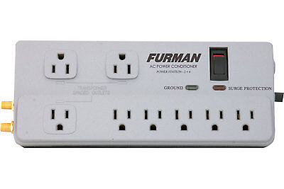 Furman PST-2+6 15A 8 Outlet Surge Protector AC Power Conditioner