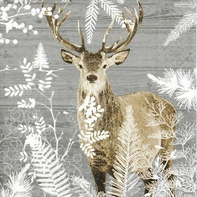 4x Paper Napkins for Decoupage Craft and Party Imperial Stag