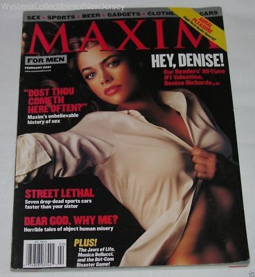 MAXIM Magazine February 2001 All Time #1 Valentine Denise Richards 196 Pages
