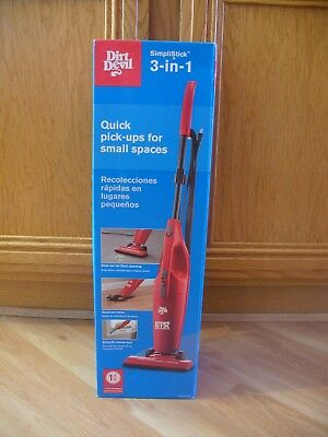 Dirt Devil Sd20010 Versa Clean Bagless Corded 3 In 1 Hand And Stick