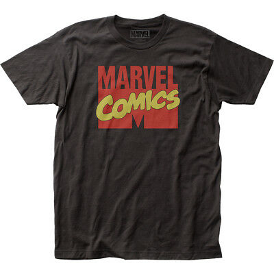 Authentic Marvel Comics Title Logo Company Fitted Adult Soft Unisex T-shirt top