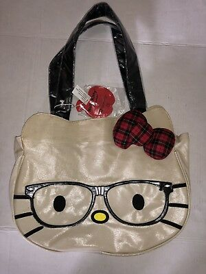 65605930c4 Hello Kitty Nerd Face Loungefly Sanrio 2011 Tote Bag New Few Stains See  Details!
