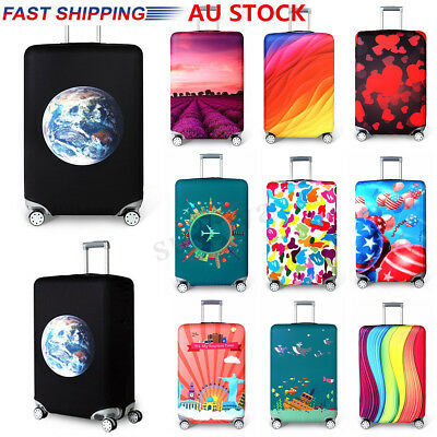 AU 18-32'' Style Travel Elastic Luggage Protective Cover Suitcase Dust Case Gift