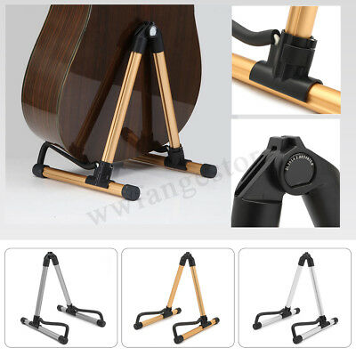 Portable Aluminum Folding Electric Acoustic Bass Guitar Stand Floor Rack Holder