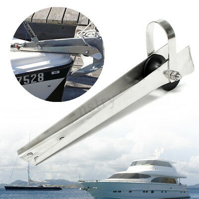316 Stainless Steel Boat Bow Anchor Rubber Roller 387.5mm For Fixed Marine