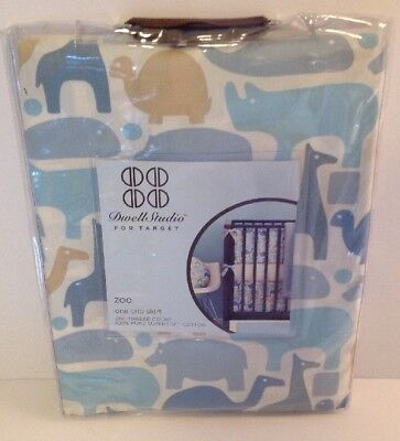 Dwell Studio Zoo Crib Skirt 200 Thread Count 100% Pure Supersoft Cotton New