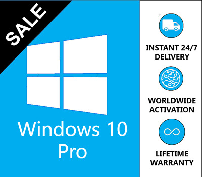 WINDOWS 10 PRO 32 / 64 BIT WIN 10 Pro OEM GENUINE LICENSE ORIGINAL Instant Send