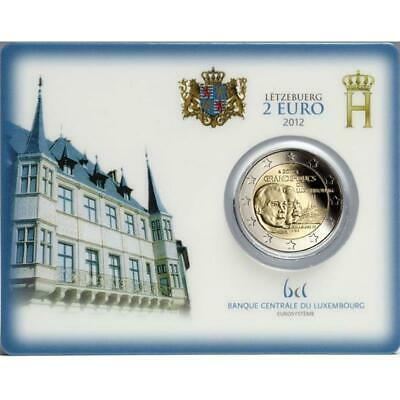 Luxembourg 2 Pc Grand Duc Wilhelm Iv. de Luxembourg Coincard