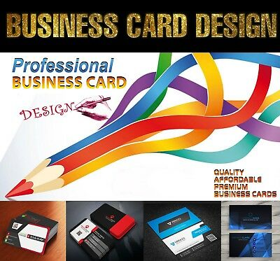 Professional Custom Business Card Design - Source File - Unlimited Revisions