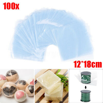 100 x Transparent Shrink Wrap Film Bag Heat Seal Gift Packing 12 x 18cm PVC