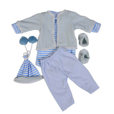 Doll Clothes Suit for 22-23 Inch Reborn Dolls Casual Wear Dress Up Accessory