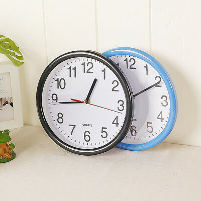 Vintage Silent Analogue Round Wall Clock Home Bedroom 8-inch Small Wall Clock