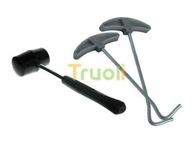 Camping Tent Peg Plastic Mallet Hammer Peg Puller Remover Extactor NEW lips~ Tents & Canopies Tent & Canopy Accessories
