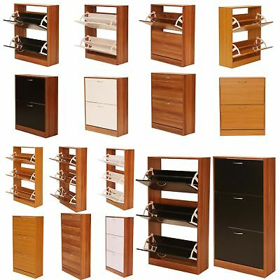 Shoe Rack Cabinet - Solid Wood Shoe Storage Cabinet Footwear Drawer Stand