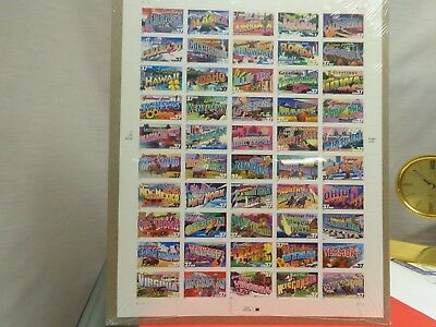 """50 US State Themed Stamps in """"Greetings from America Pack"""" Unused"""
