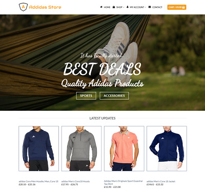 Adidas Items Website For Sale - Earn £540.00 A SALE. Free Domain| Web Hosting