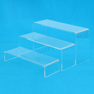 AU 3x Transparent Acrylic Shoes Display Stand Jewellery Rack Organiser