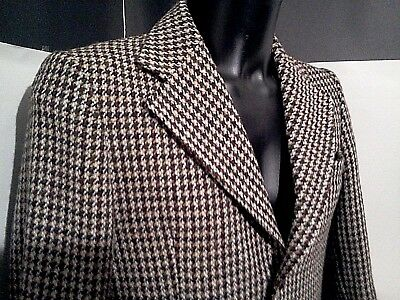 """DUNN & CO great britain pure vintage HARRYS TWEED blazer pure 100% wool 48""""chest"""