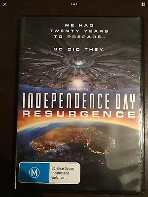 INDEPENDENCE DAY :  RESURGENCE Liam Hemsworth New Unsealed DVD R4