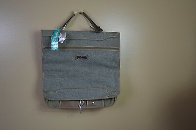 New Jordache Cambridge Tweed Collection Travel Bag Hanging Luggage Carry-on