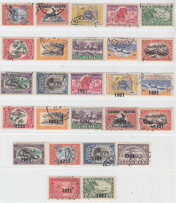 Liberia 1921  Issue Used Full Set Scott 183/208