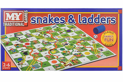 Snakes and Ladders Board Game Kids & Adults Toy