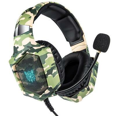K8 Gaming Headset MIC LED Headphones Surround for PC Mac Laptop PS4 Xbox One