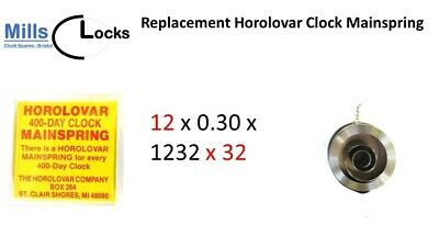 Horolovar Clock Mainspring, Anniversary Clocks, 400 day, (Size: 12mm x 32mm)