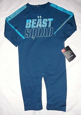 72507c52ae1a4d Under Armour Baby Boy 3 6M 6 9M Coverall Bodysuit Jumpsuit Outfit Romper NWT