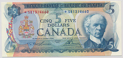 Bank Of Canada Replacement 5 Dollars 1972 *Sb1314660 - Au