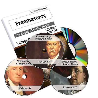 1400 Freemasonry Books on 3x DVD Library Masonic Rituals Secrets 1300 Images 225