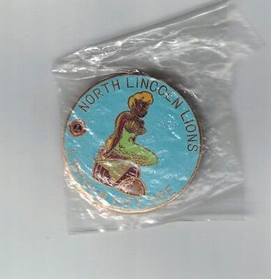 Vintage 1970-1980 Lions Club Pin Lincoln City Oregon