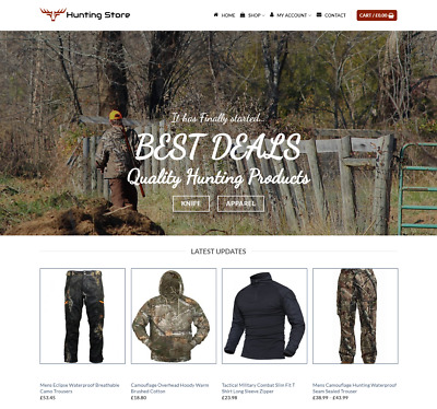 Hunting Store Website For Sale - Earn £455.00 A SALE. Free Domain| Web Hosting