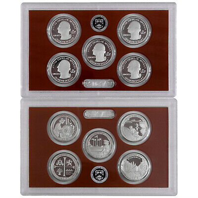 2019 S Parks Quarter ATB Proof Set Gem DCam No Box or COA 5 Coin CN-Clad US Mint