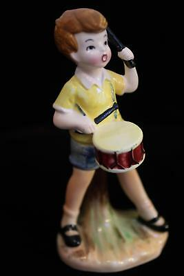 1964 Christopher Robin Drummer Ceramic Figurine Enesco Winnie the Pooh Disney