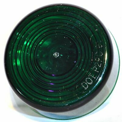 "Light incandescent 2"" flat green lens single bulb sealed for Peterbilt Kenworth"