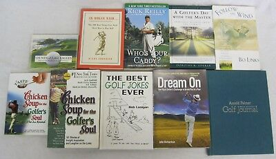 Golf Enthusiast  10 book lot - Inspirational Stories Humor Quotes Journal