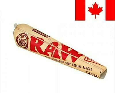 18 Raw ORGANIC Cones Pre-Rolled Rolling Papers 1 1/4 Size 3 Packs