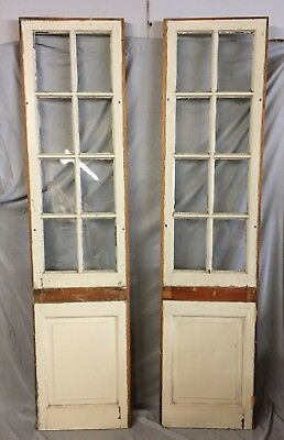 Pair Antique 8 Lite Wide Entryway Sidelights 20X80 120-19C