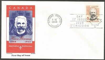 Canada Fdc 1968 Henri Bourassa 5C Stamp Canada First Day Of Issue Cover