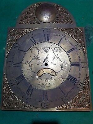 Antique 18Th Century Tho Radford Of Leeds Original Dial And Movement Spares Repa