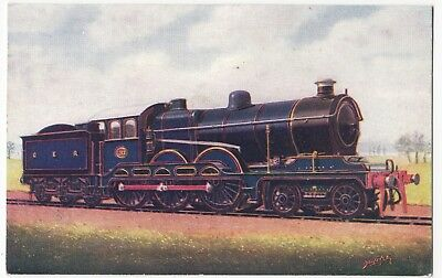 Railways; 4-6-0 Express Engoine No 1500, GER PPC By Alpha, Unused