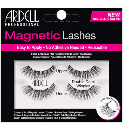 a095674218a Ardell Magnetic Lashes Double Demi Wispies Black Fake False Eyelash  Extension